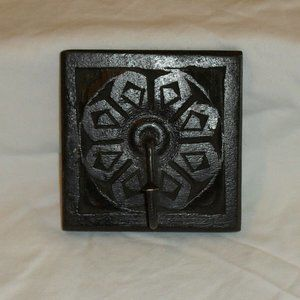 RUSTIC COAT HOOK HAND CRAFTED CARVED WOOD